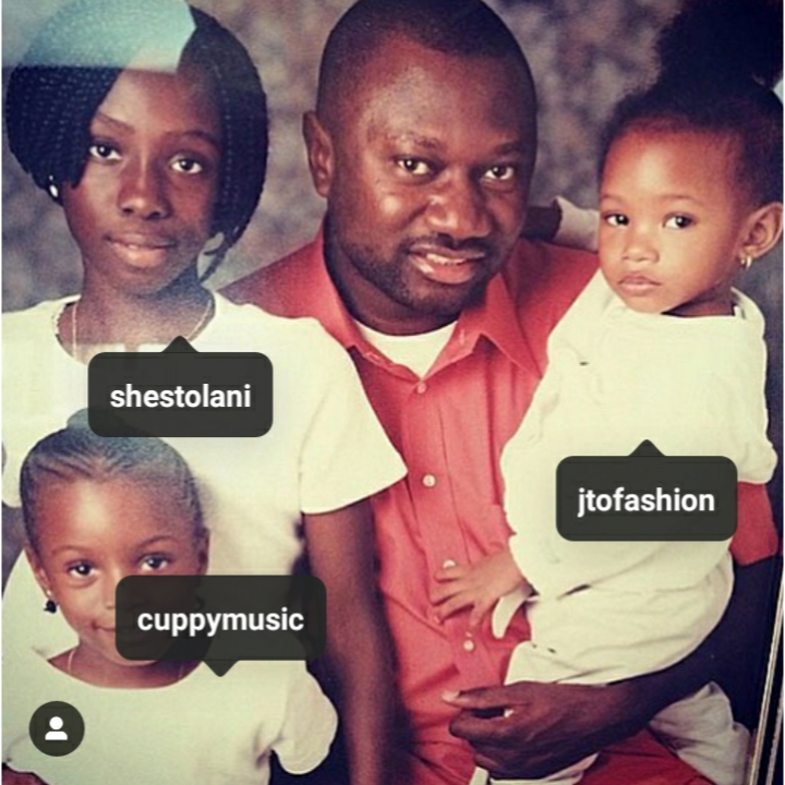 Femi Otedola share throw back picture to celebrate